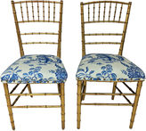 One Kings Lane Vintage '30s French Gilt Faux-Bamboo Chairs, S/2