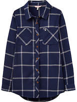 Joules Little Joule Girls' Checked Shirt, Navy