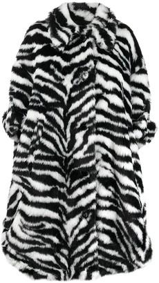MM6 MAISON MARGIELA Oversized Zebra High-Low Coat