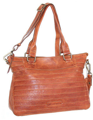 Nino Bossi Handbags Women's Handbags Cognac - Cognac Rebekah Convertible Leather Satchel