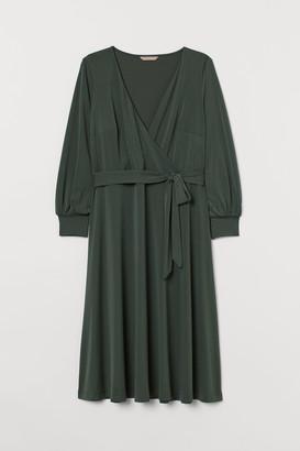 H&M H&M+ Crepe wrap dress