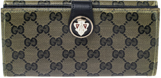 Gucci Navy Blue GG Crystal Coated Canvas Voyager Continental Wallet