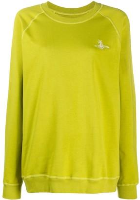 Vivienne Westwood Embroidered Logo Organic Cotton Sweatshirt