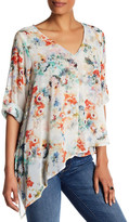 Matty M Asymmetrical Floral Blouse