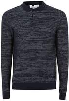 Topman Navy Textured Knitted Polo