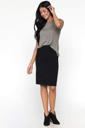 Downeast Stretch Pencil Skirt