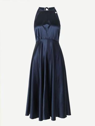 Samsoe & Samsoe Rhea Ml Glossy Midi Dress Night Sky - XS