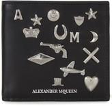 Alexander Mcqueen Black Studded Leather Wallet