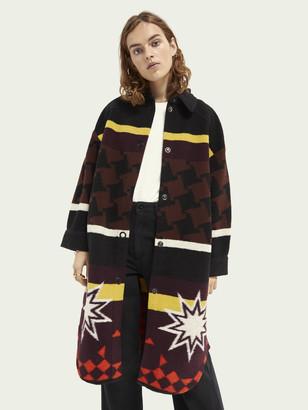 Scotch & Soda Jacquard print wool-blend jacket   Women
