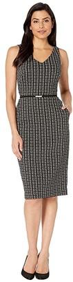 Lauren Ralph Lauren Embeth w/ Trim Dress (Cream/Black) Women's Dress