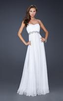 La Femme 17739 Strapless Sweetheart Empire Waist Evening Gown