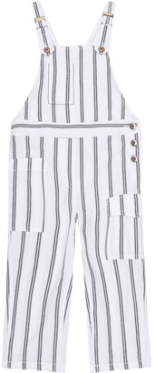 BRUNELLO CUCINELLI KIDS Exclusive to Mytheresa Striped cotton overalls