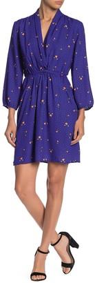 Collective Concepts Floral Blouson 3/4 Sleeve Dress
