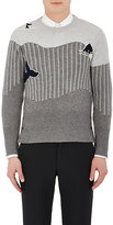 Thom Browne Men's Whale-Pattern Cashmere Sweater