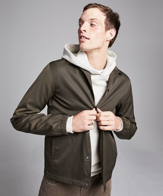 Todd Snyder Made in New York Coach's Jacket in Olive Drab