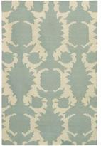 Rugs Flock Dhurrie in Dove and Cream