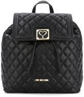Love Moschino fold-over quilted backpack