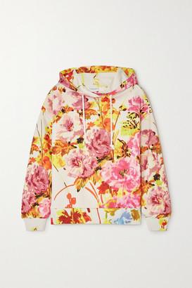 Dries Van Noten Floral-print Cotton-jersey Hoodie - Ecru