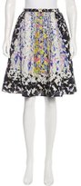 Peter Pilotto Abstract Print Silk Skirt