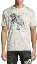 PRPS Leaf-Print Short-Sleeve T-Shirt