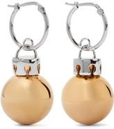 Balenciaga December Gold And Silver-tone Earrings