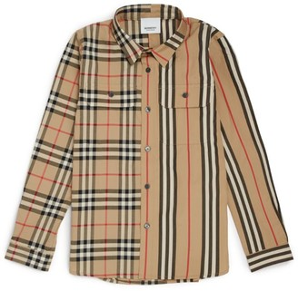 Burberry Kids Vintage Check Stripe Cotton Shirt (3-12 Years)