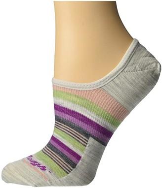 Darn Tough Vermont Topless Multi Stripe No Show Hidden Light (Ash) Women's Crew Cut Socks Shoes