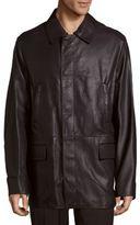 Brioni Spread-Collar Leather Jacket