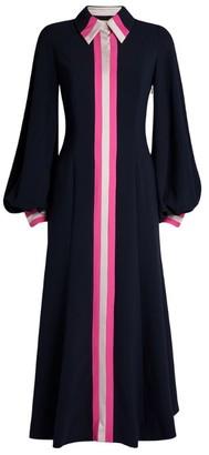 Roksanda Kabru Stripe-Trim Midi Dress