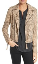 Joie Women's Leopard Print Leather Jacket
