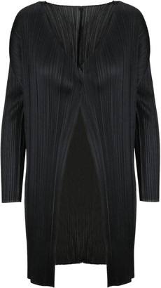 Pleats Please Issey Miyake Pleated Long Cardigan