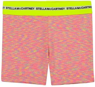 Stella McCartney Kids Space-dye stretch-jersey biker shorts