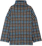 Stella McCartney Oversized Jacquard-knit Wool-blend Sweater - Blue