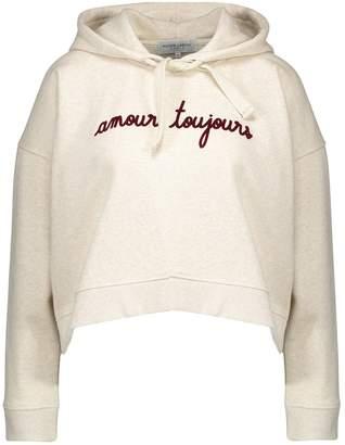 Maison Labiche Amour Toujours cropped hooded sweatshirt