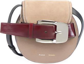 Proenza Schouler Buckle Mini Crossbody Bag, Taupe