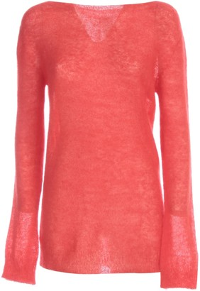 P.A.R.O.S.H. Mohair Sweater Boat Neck