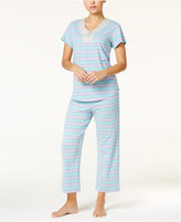 Charter Club Ombré Striped Knit Pajama Set, Only at Macy's