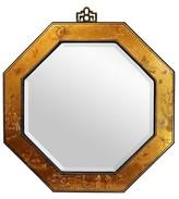 Oriental Furniture Gold Leaf Octagonal Mirror - Gold