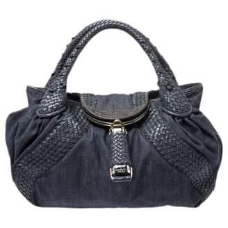 Fendi Spy Blue Leather Handbags