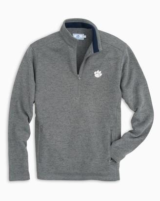 Southern Tide Clemson Sweater Fleece Quarter Zip