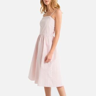 La Redoute Collections Striped Cotton Cami Dress