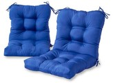 Andover Mills Sarver Synthetic Indoor/Outdoor Replacement Cushion Set Fabric: Marine Blue