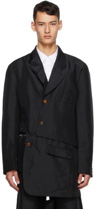 Comme des Garçons Homme Plus Black Double Twill Garment-Treated Blazer