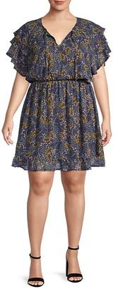 Bobeau Plus Bree Chiffon Dress
