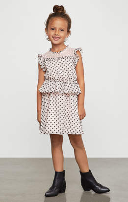BCBGMAXAZRIA Eyelash Fringe Peplum Dress