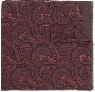 Lardini Paisley Print Wool Scarf