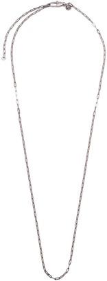 Tateossian Link chain rhodium silver necklace