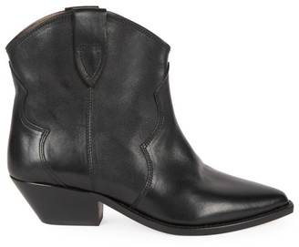 Isabel Marant Dewina Western Leather Ankle Boots
