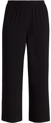 Caroline Rose Petite Stretch Knit Cropped Pants