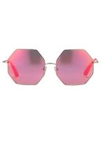 Matthew Williamson Neon Pink Heptagon Sunglasses